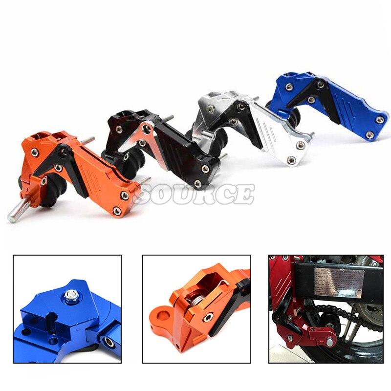 Cadena de aluminio ajustable tensor perno en el rodillo Motocross motocicleta Dirt Street Bike ATVs Banshee Chopper para Honda kawasaki