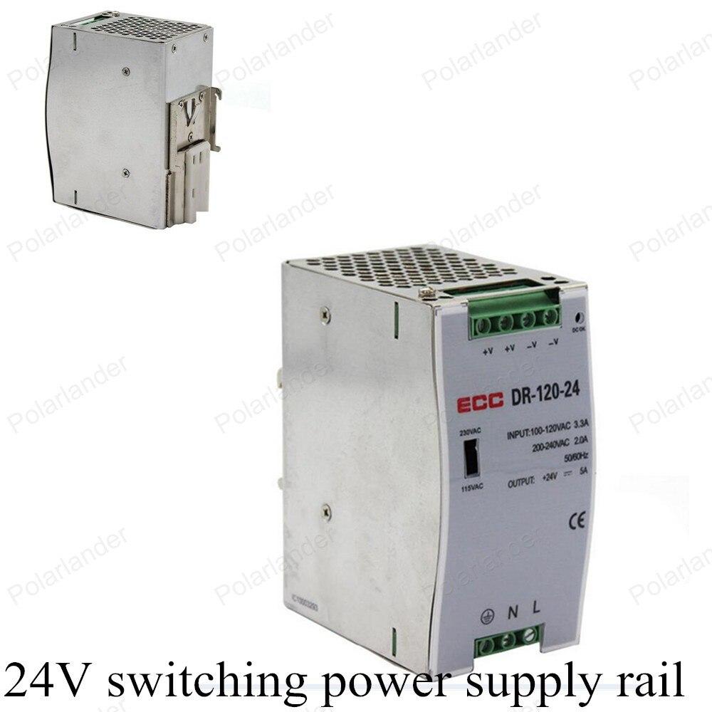 Двойной выходной источник питания напряжение AC/DC 24V 120W для трансформаторного переключателя питания рельсовый адаптер драйвер для светодио...