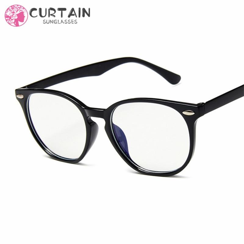 Anti-Blue Light Classic Sunglasses Women Sun Glasses Men Shades Clear Lens Eyeglasses Plastic Frame