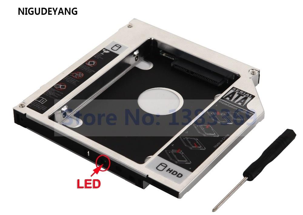 NIGUDEYANG 2nd 2.5 disque dur HDD SSD boîtier boîtier Caddy adaptateur pour DELL INSPIRON 17R 5720 7720 GT80N