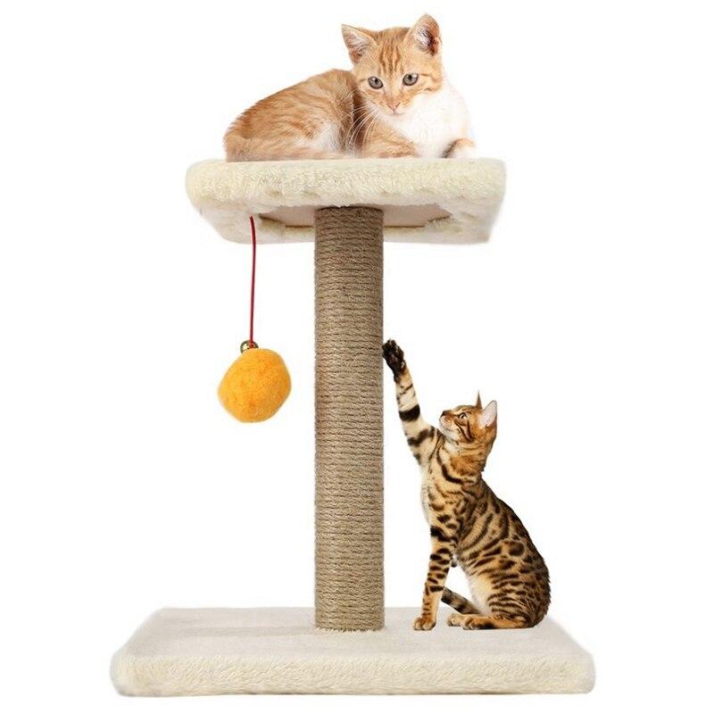 Gato, árbol, cuerda, bola oscilante, poste de rascado, marco de escalada, juguete interesante para gatos ensamblados Diy