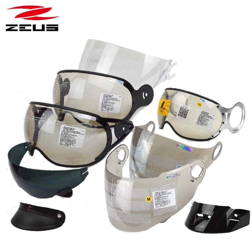 ZEUS 218C 125B 210C 202FB 381C 607B 611E 612 613B 613A 811 813 1200E 2000A 3000A 3500 motocicleta lente de casco visor cap pico