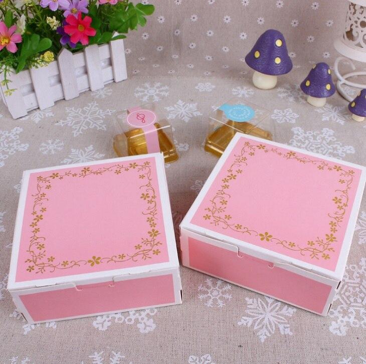 Emballage en papier pour gâteaux   Boîte de boulangerie à dentelle rose, bricolage, 100*11.8*5cm, boîtes pour gâteaux alimentaires bonbons, 11.8 pièces