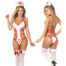 Sexy femmes infirmière Babydoll Cosplay Sexy hôpital Costume Lingerie chaude érotique uniforme infirmière Cosplay sexy costumes femmes body