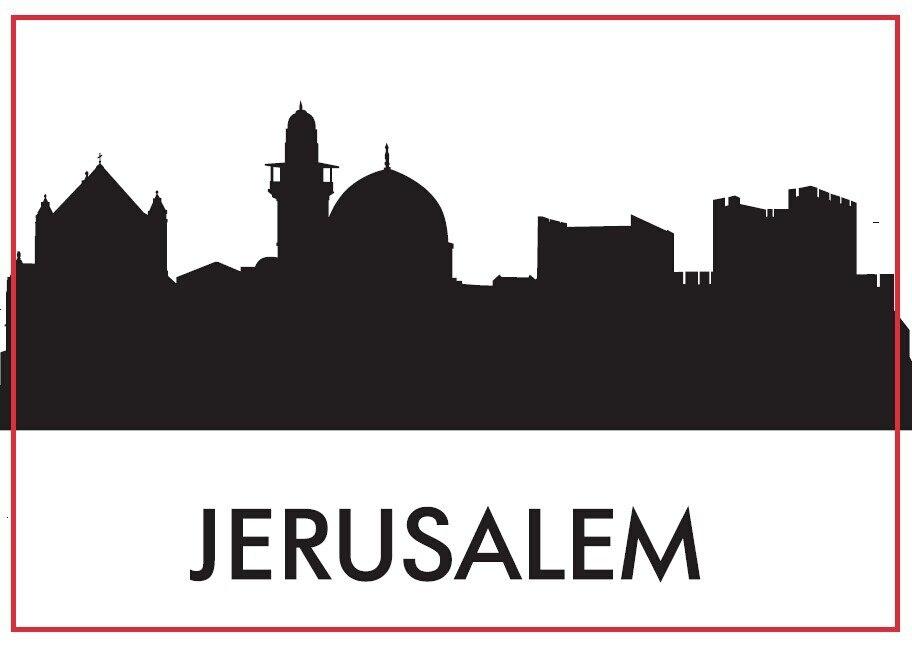 Jerusalén Souvenir de imanes de nevera de 20420