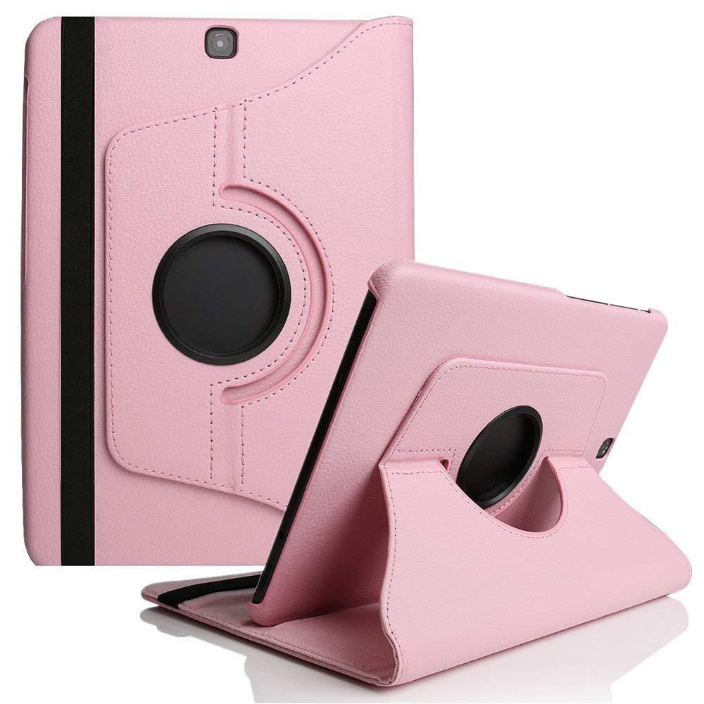 Funda para Samsung Galaxy Tab 9,7 pulgadas T550 caso TabA 9,7 SM-T550 T551 SM-T555 giratoria de 360 grados funda para tablet de cuero PU de vidrio