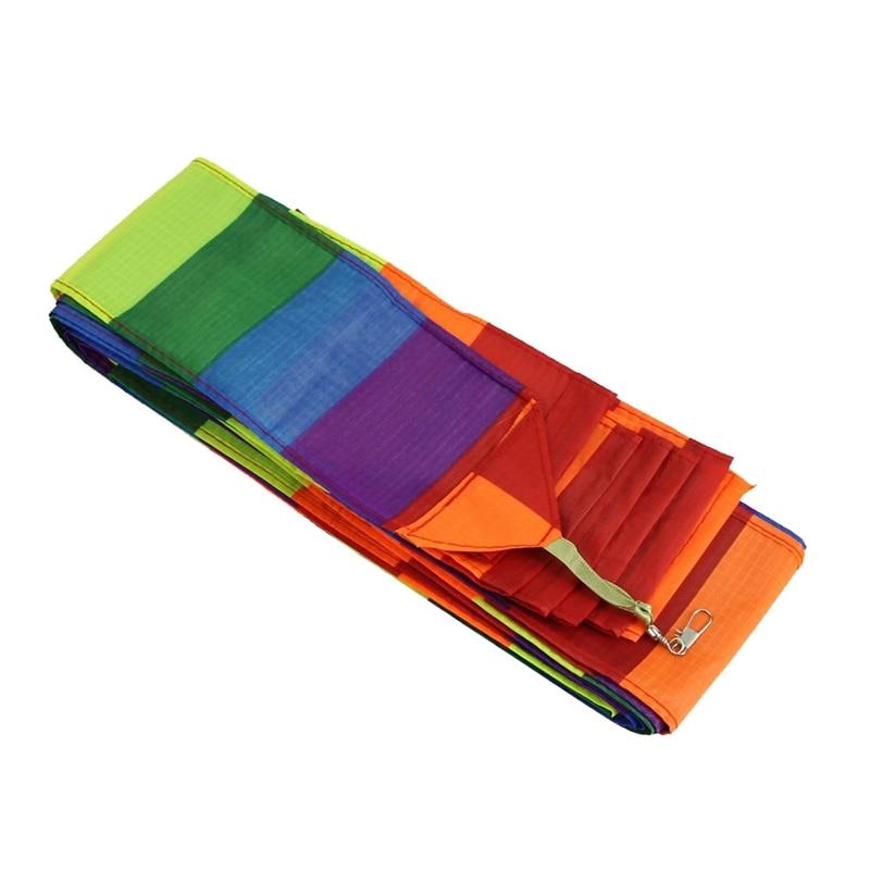 Super Nylon Stunt Kite Schwanz Regenbogen Linie Kite Zubehör Kinder Spielzeug Fliegen Kite Reel String Kitesurf kiteboard Zubehör für Kind