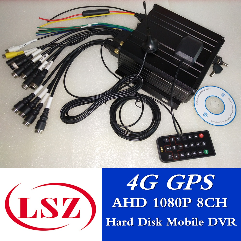 8ch mdvr disco rígido monitor remoto 4g gps 1080 p hd completo móvel dvr suporte ntsc/pal direto da fábrica venda direta