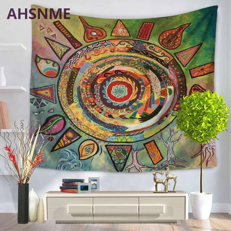 AHSNME lujo europeo sun god decoración del hogar tapiz Impresión de pintura al óleo tapiz Toalla de playa textiles para el hogar manta 150x20 0/130x