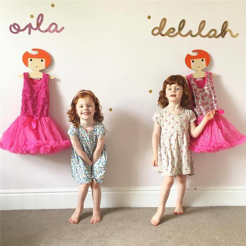 Nette Cartoon Prinzessin Mädchen Holz Kinder Kleiderbügel Nordic stil Holz Mantel Rack Baby Kleiderbügel Kinder Zimmer Dekoration Haken