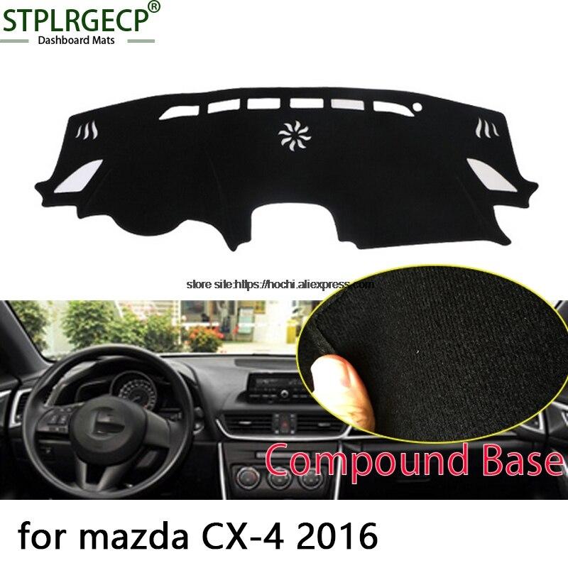 STPLRGECP, alfombrilla negra de doble capa para salpicadero mazda CX-4 cx4 2016, Alfombrilla negra para salpicadero de coche, alfombrillas interiores automotrices
