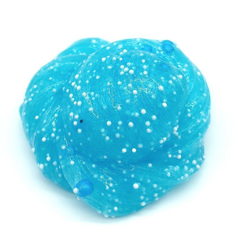 60ML juguete de Slime antiestrés esponjosas y cuyo onda suave crujiente perlas de espuma de los niños juguetes de la descompresión Baba relajarse regalos arcilla limo