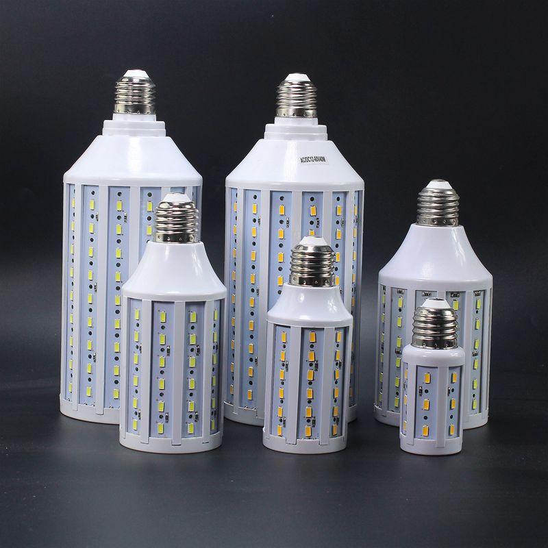 Bombilla LED de mazorca de maíz E27 B22 5730 SMD 12V 24V 48V 60V AC DC12-60V 7W 10W 15W 18W 25W 30W, foco luminoso de Alta Luz LED para lámpara 10 Uds.