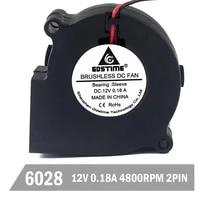 100pcslot gdstime dc 12v 2pin 6028 60mm 60x28mm cooler cooling centrifugal blower exhaust fan