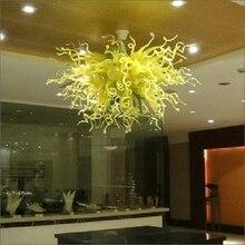 Lustre en verre soufflé éclairage élégant beau lustre en verre soufflé à la main