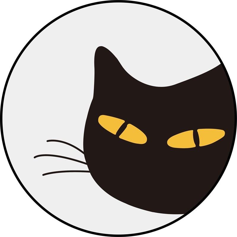 موضة الكرتون الأسود القط السجاد المستديرة كرسي الكمبيوتر الحصير الكريستال المخملية خيمة المنزل السجاد لغرفة المعيشة غرفة نوم منطقة السجاد
