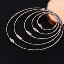 Chaîne de câble métallique en acier inoxydable porte-clés multifonction créatif fournitures de Camping en plein air