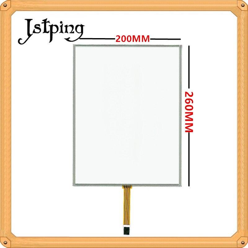 Jstping 12.1 polegada 43 4 fio tela de toque da Resistência 260*200mm 260mm * 200mm 4 pinos grande Largura de linha Universal digitador de vidro do painel