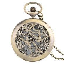 Belle pie montres collier pour femmes dames filles amis fleur Case Fine Quartz montre de poche soins infirmiers montre pendentif cadeau