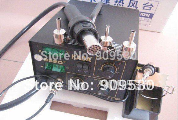 DHL envío gratis KADA 852D + máquina de reelaboración, máquina soldadora, SMD SMT aire caliente y hierro 110V 220V disponible