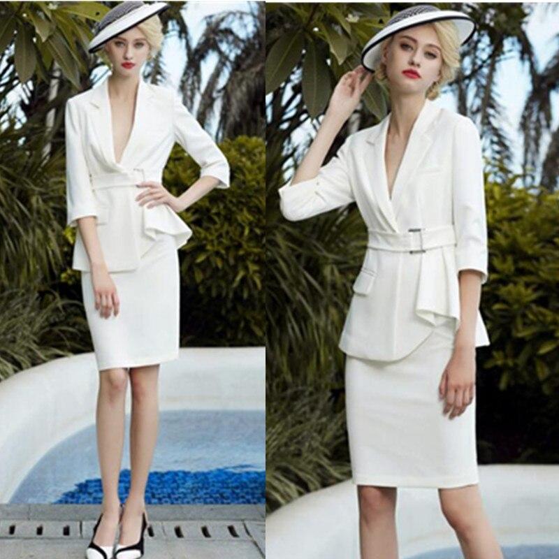 Skirt Suits Women 2 Piece Set Office Lady Business Formal Work Blazer Midi Pencil Skirt Elegant Luxury OL Spring Autumn Clothes