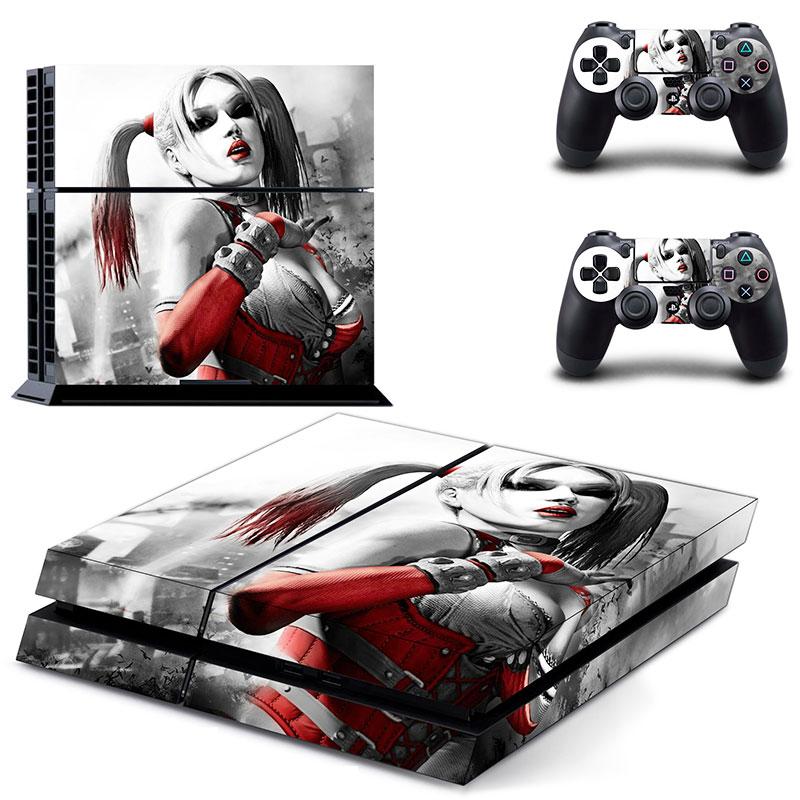 PS4 Konsole Haut Aufkleber Aufkleber Harley Quinn + 2 Controller Skins Set
