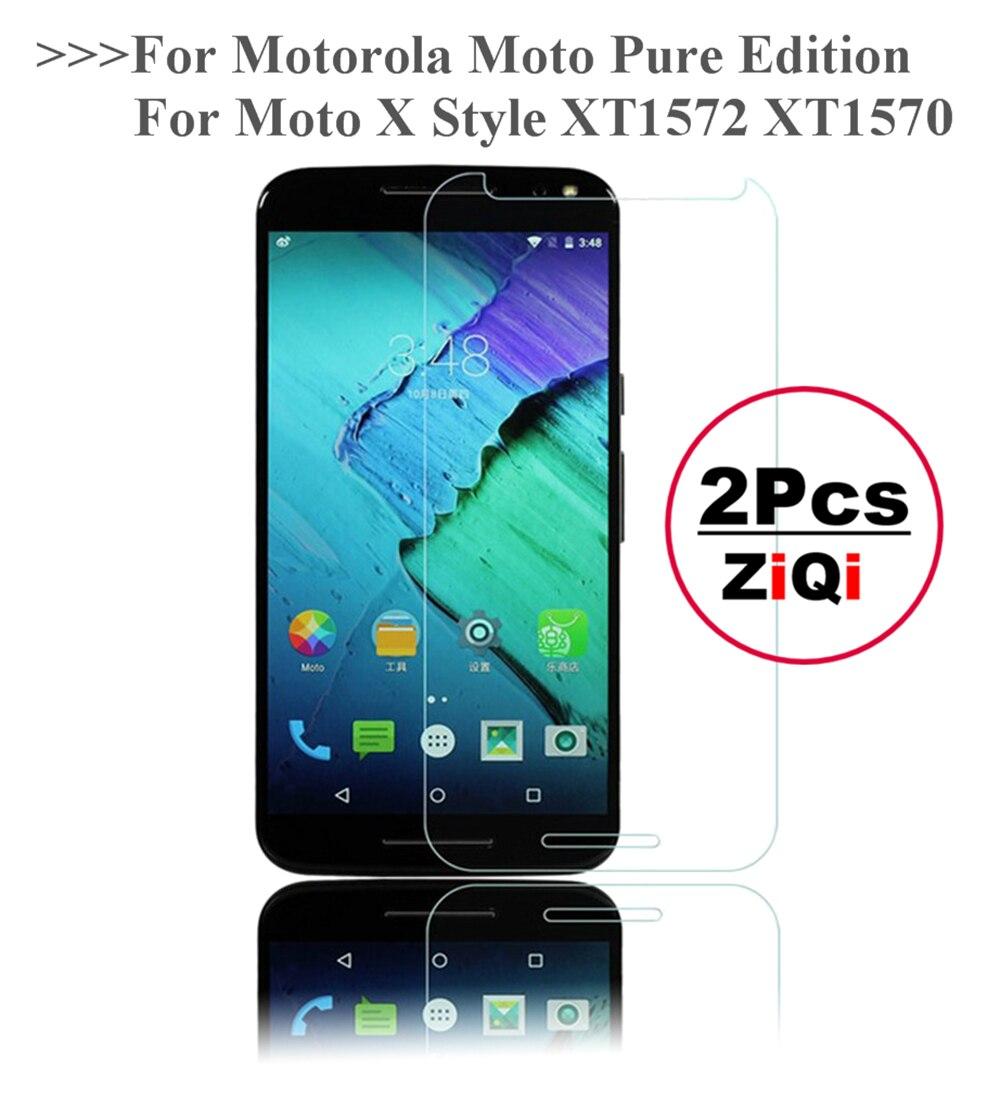 2 stücke Gehärtetem Glas Für Motorola Moto X Stil XT1572 XT1570/Reine Ausgabe Screen Protector Gehärtetem Schutz Film Schutz