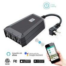 1 w 3 out US wtyczka na świeżym powietrzu Wi-Fi Smart Plug Outlet bezprzewodowy wyłącznik gniazda zdalnego sterowania
