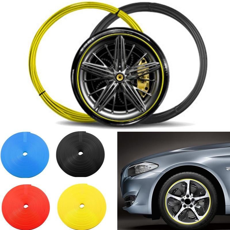 8m/rolo aro da roda do carro proteção do pneu adesivo roda hub pneu adesivo tira diy quadro decoração moldagem guarnição fita estilo do carro