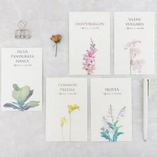 Carte de vœux fleurs Mirabell garden   bouquet de fleurs, carte de nouvel an noël, carte de message danniversaire, carte de remerciement, 30 pièces/boîte