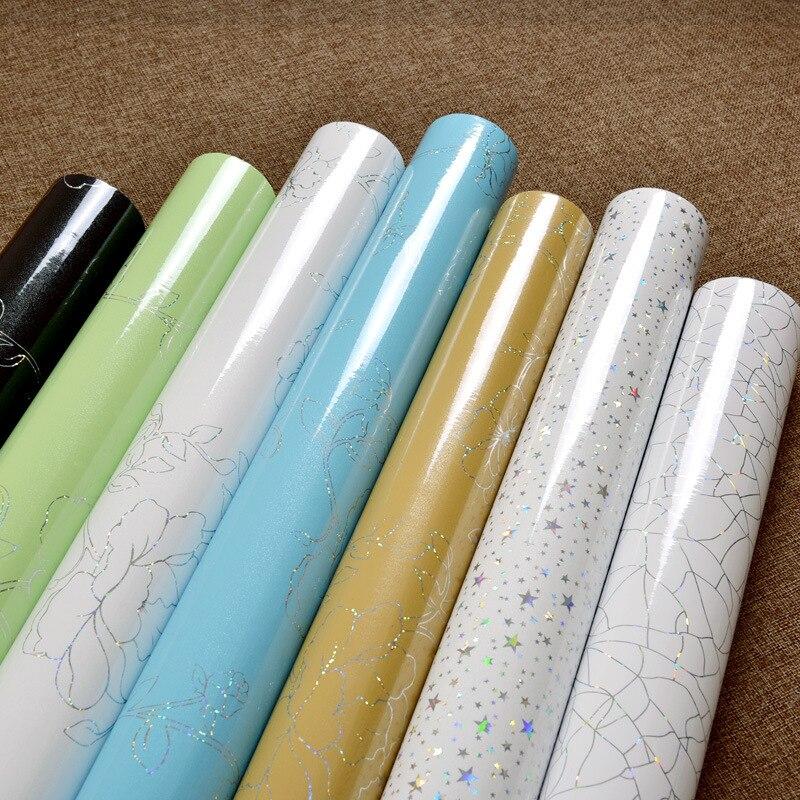 Colomac pvc自己粘着壁紙塗料真珠光沢のある古い家具リフォーム壁ステッカー肥厚防水壁紙