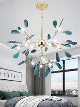 Nórdico CONDUZIU a Iluminação Lustre Restaurante Colorido Ágata Decoração Personalidade Lustre Quarto Sala de estar Moderna Luminária
