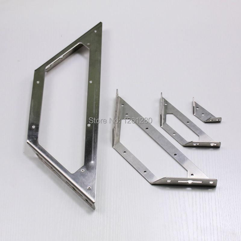 شحن مجاني 250 ملليمتر l نمط شماعات الأثاث قوس مثلث الأجهزة تركيب الحاجز الزاوية الجرف قوس قوس الجدار يربك