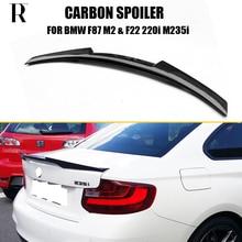 F87 M2 Spoiler daile de coffre arrière   En Fiber de carbone, pour BMW F87 F22 220i 228i M235i 2014 UP M4, becquet de botte dailes à lèvre arrière