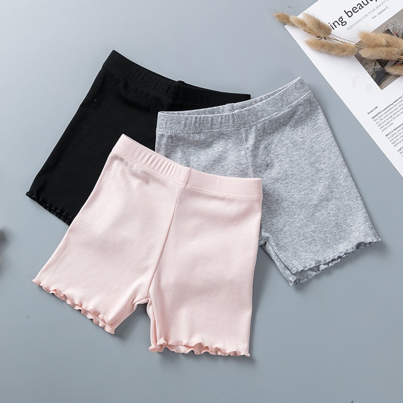 100% хлопковые защитные штаны для девочек, детские короткие штаны наивысшего качества, нижнее белье, детские летние милые шорты, трусы для От 3 до 11 лет