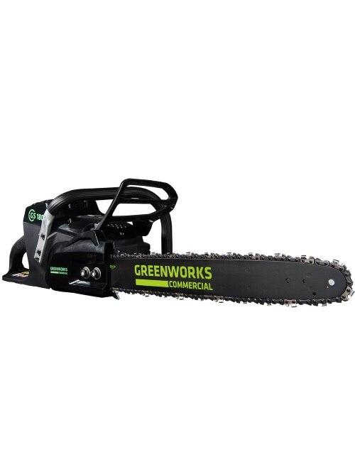 ¡NOVEDAD DE 2017! greenworks 18 GREENWORKS 82V motosierra comercial batería motosierra bajo nivel de ruido y motor sin escobillas