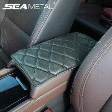 Accessoires de voiture accoudoir tapis couverture Auto accoudoirs Pad sacs de rangement Pad PU cuir organisateur voiture bras repos tapis protecteur couvre