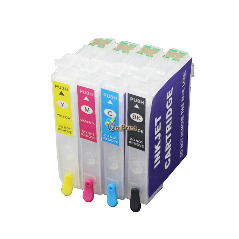 Cartucho de tinta recargable de T2521-T2524 para epson, para EPSON WF-3620, WF-3640, WF-7610, WF-7620, WF-7710, 3620, 3640, 7610 y 7620