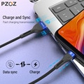 PZOZ Micro USB Cable Fast Charging 3A Microusb Cord For Samsung S7 Xiaomi Redmi Note 5 Pro Android Phone cable Micro usb charger