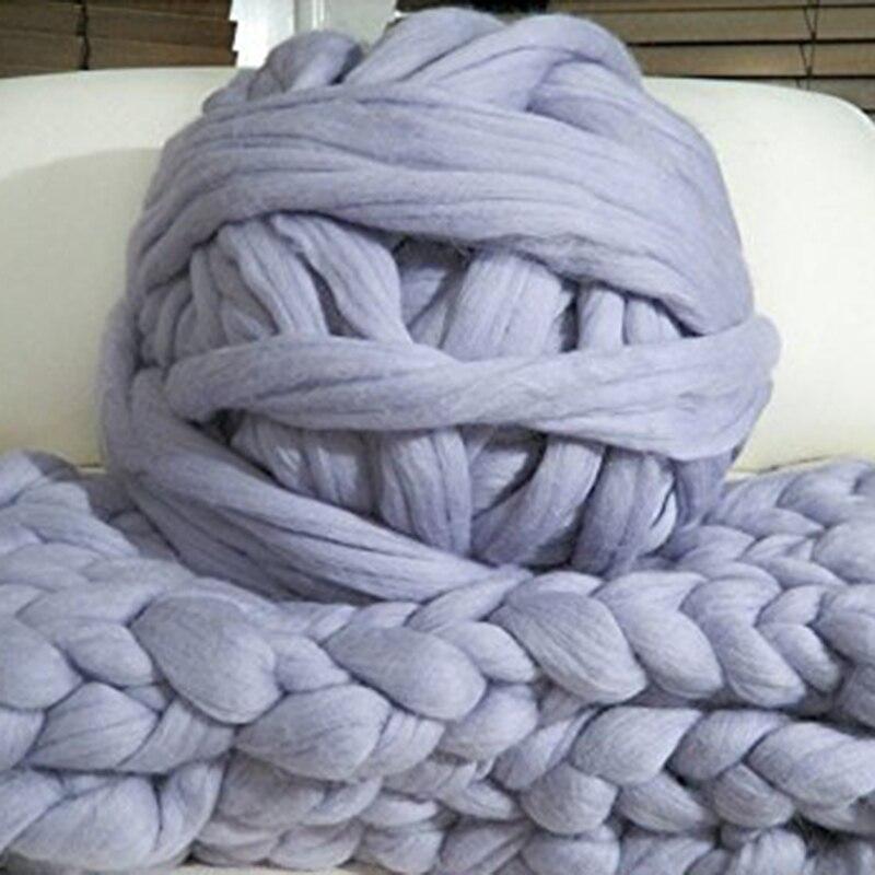 1000g/ovillo grueso de lana de Merino suave, brazo de manualidades, manta de punto, ganchillo hilado a mano, decoración del hogar
