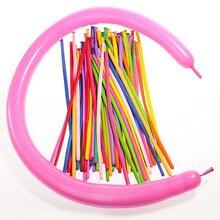 Ballons en Latex pour animaux à torsion 260Q   100 qualité supérieure, ballons longs en Latex de couleur assortie pour fêtes, anniversaires