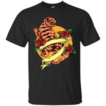 2019 Camiseta de manga corta de cuello redondo con tatuaje de Tigre, camiseta gráfica, Camiseta de algodón Unisex de arte japonés para hombres