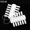 ROSALIND False Nail Tips Fake Color Card Transparent White Buckle Ring Nail Art Practice Display Tools Manicure Nail Accessories