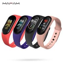 Pulsera inteligente MAFAM M4A, Monitor de ritmo cardíaco y salud, Monitor de presión arterial, pulsera deportiva con Bluetooth para hombres y mujeres