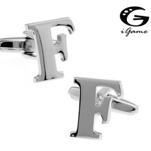 iGame Letters Cuff Links Quality Brass Material Symbol Of F Design Free Shipping