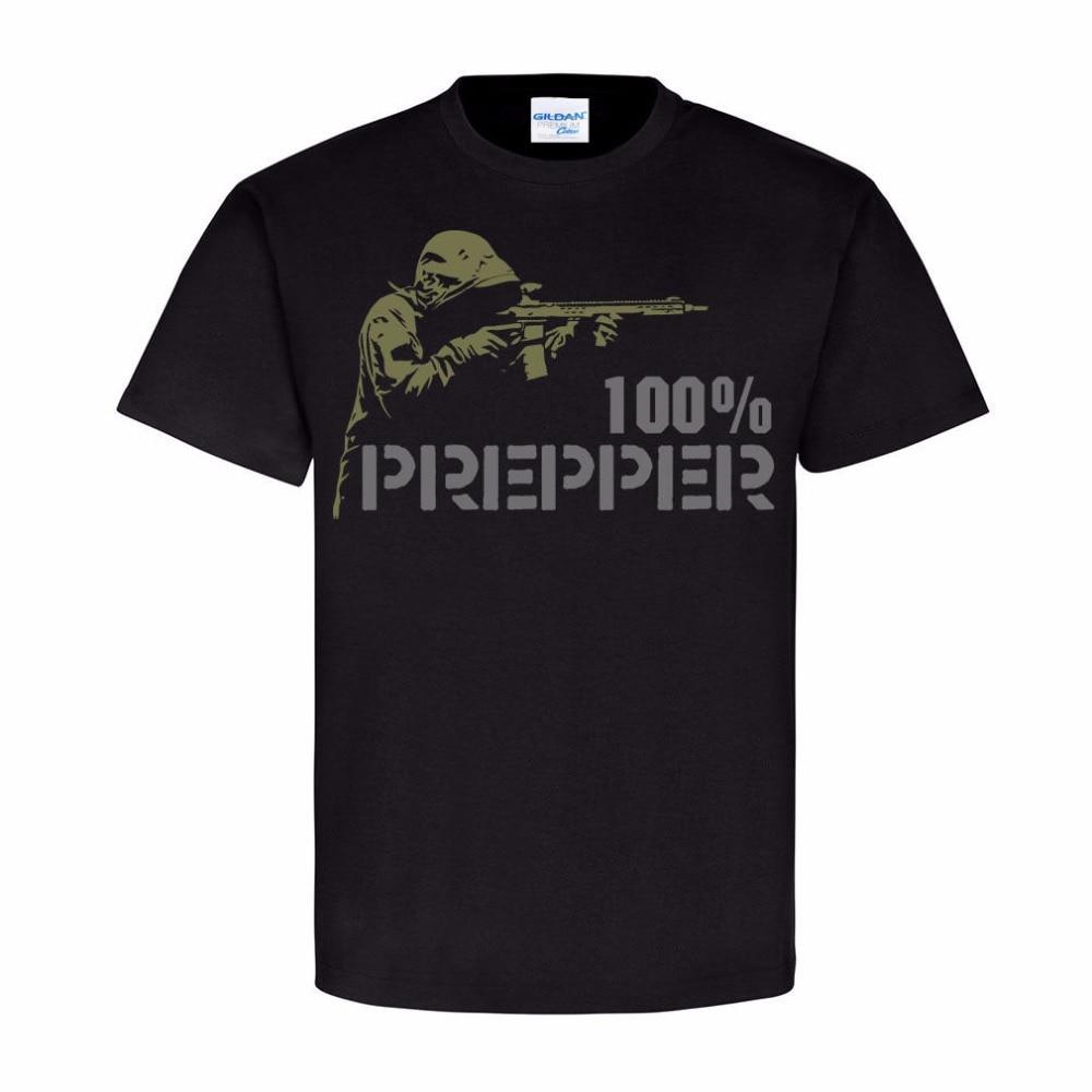 S camiseta verano 0% algodón pantalón corto casual manga Tops Tee 0% Prepper tiro camiseta de moda s ropa