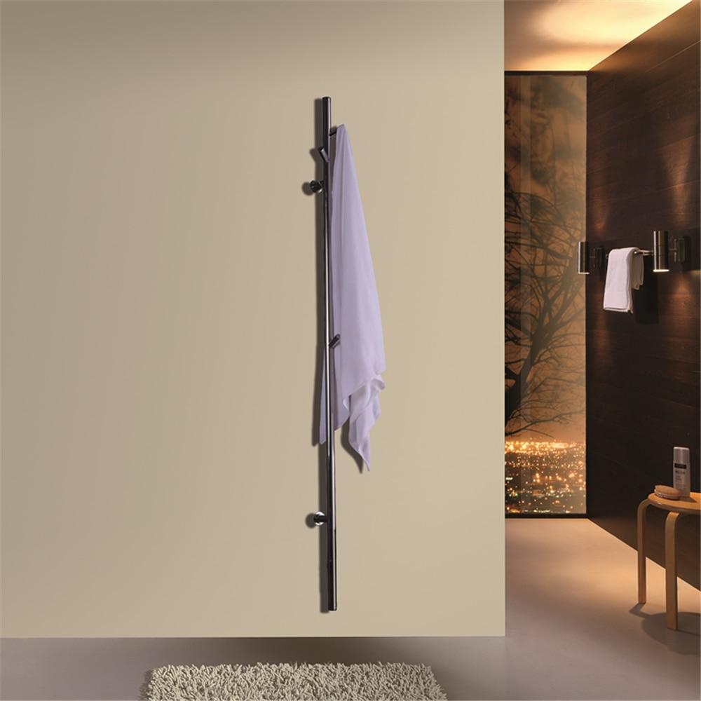São preto mate única barra de aço inoxidável fixado na parede 304 toalheiro elétrico aquecido toalha secador aquecedor toalha HZ-935
