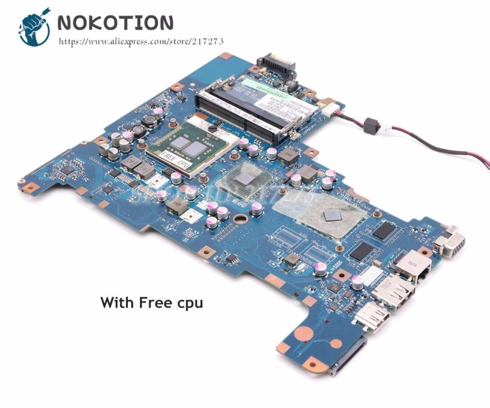 NOKOTION для Toshiba Satellite L670 L675 материнская плата для ноутбука NALAA LA-6042P K000103810 K000103830 HM55 DDR3 HD4500 Бесплатный процессор