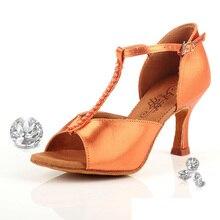 Ballroom Dance Shoes Woman Brand Latin Aerobics Shoes Adult Sports Upscale Flash Satin Stretch For F