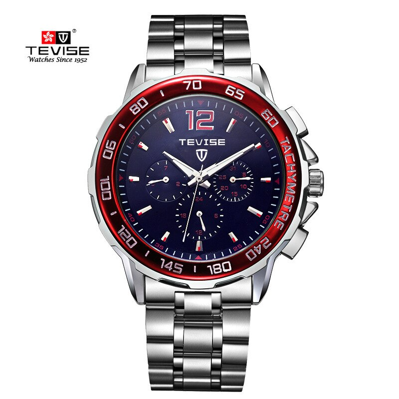 Tevise Top Brand Mens Watches Automatic Self-wind Mechanical Watch Tourbillonstainless Steel Luxury